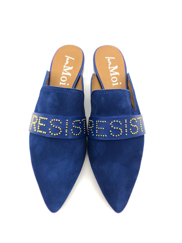 Walk With Us Slide - Blue Wave Leather - Resist