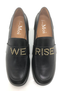March Loafer - Black Leather- We Rise