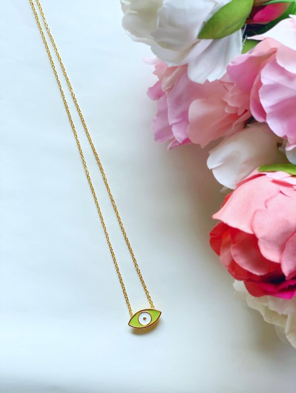 Tranquility 18k Gold Plated Necklace : Mint