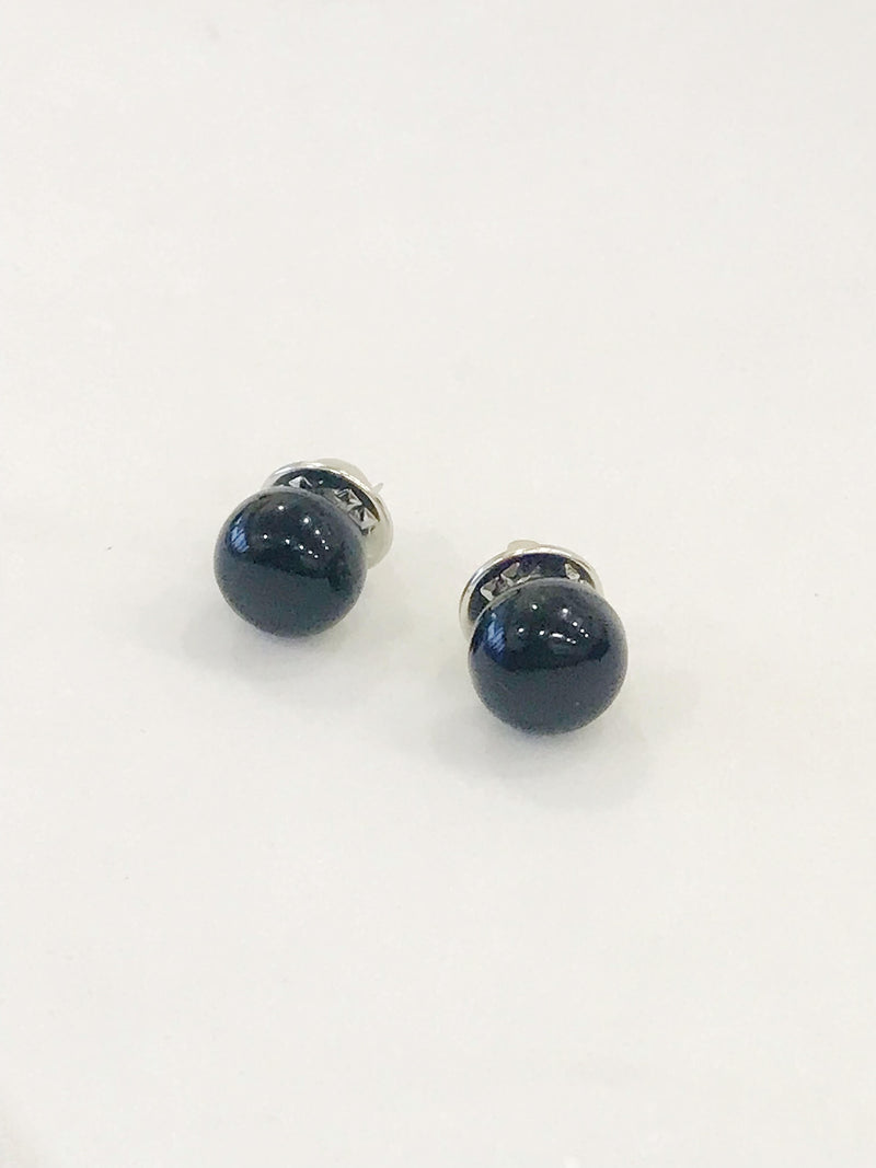 Baroque Pearl Buttons, Black (Set of 2)