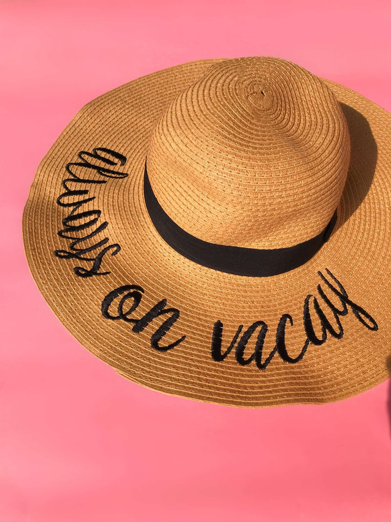 Always On Vacay Hat: Tan