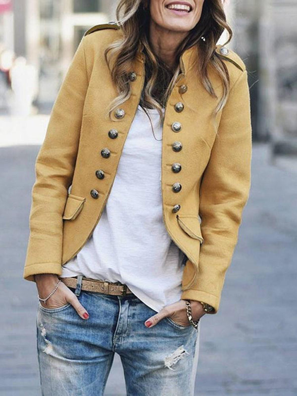 Long Sleeve Slim Stand Collar Fall Jacket