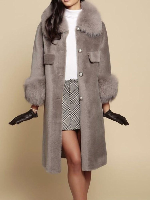 Regular Loose Single-Breasted Lapel Long Overcoat