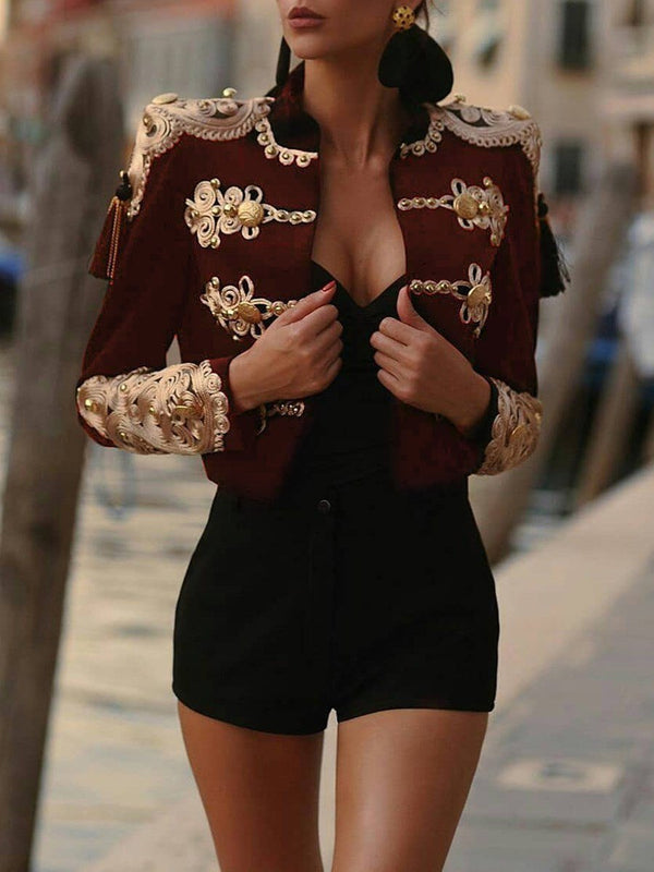 Thick Slim Double-Breasted Regular Short Jacket