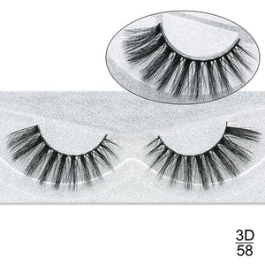 Cross Thick Glue On -1 Pair False Eyelashes $3.49 Free Shipping