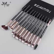 Load image into Gallery viewer, Anmor Pro Makeup Brushes Set 12 pcs/lot Eye Shadow Blending Eyeliner Eyelash Eyebrow Brushes For Makeup