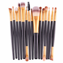 Load image into Gallery viewer, MAANGE Pro 15Pcs Makeup Brushes Set Eye Shadow Foundation Powder Eyeliner Eyelash Lip Make Up Brush Cosmetic Beauty Tool Kit Hot