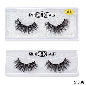 Glue On Thick Fake Eyelashes - Mink Eyelashes - 1cm -1.5cm $2.99 Free Shipping
