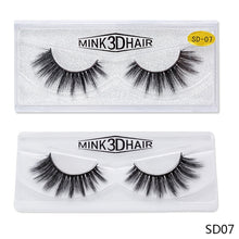 Load image into Gallery viewer, Glue On Thick Fake Eyelashes - Mink Eyelashes - 1cm -1.5cm $2.99 Free Shipping