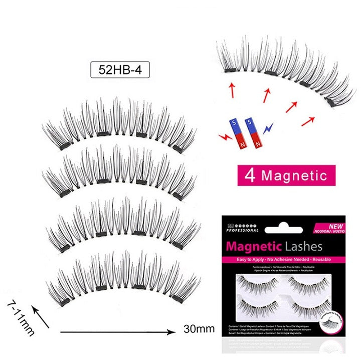 Magnetic Eyelashes Gift box - 4 magnets 6 styles $9.95 Free Shipping