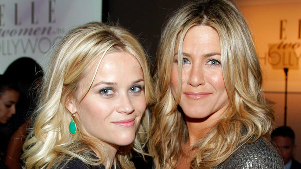 Hair styles for the heart shaped face, celebrity hair styles, reese witherspoon and jennifer anniston, blonde beach waves