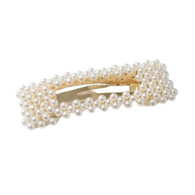 Bar Pearl Rectangle Barrette-Barrette-ShopNorthAuthentic