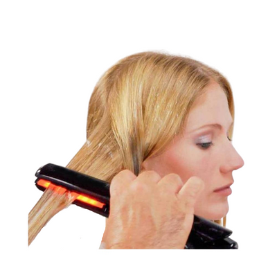 Oway Infrared Hair Remedy Iron is a state-of-the-art tool that harnesses the power of ultrasonic vibrations and cold fusion therapy to repair the hair's internal structure.