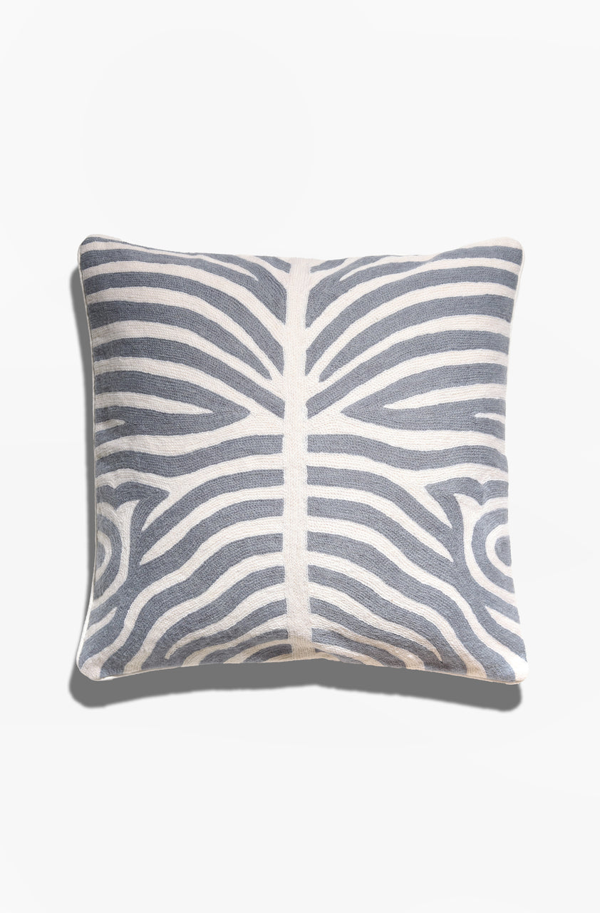 Cushion Cover - Kuda Stone Blue - GAYA ALEGRIA
