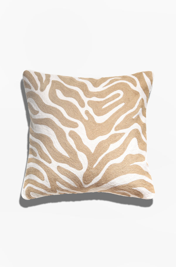 Cushion Cover - Batu Natural and White - GAYA ALEGRIA