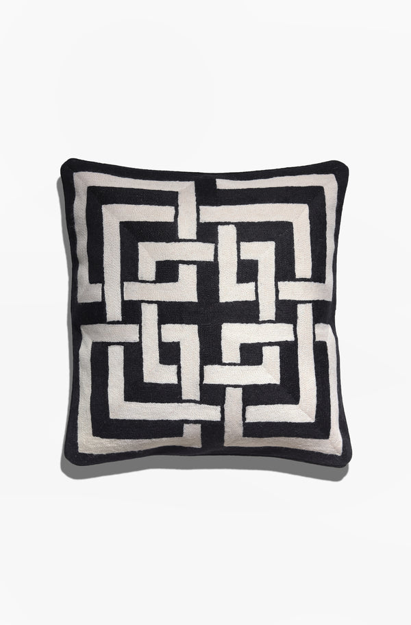 Cushion Cover - Hong Kong Black & White - GAYA ALEGRIA