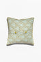 Cushion Cover - Pavo Olive on Meander - GAYA ALEGRIA