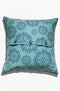 Cushion Cover - Universe Midnight Blue on Teal - GAYA ALEGRIA