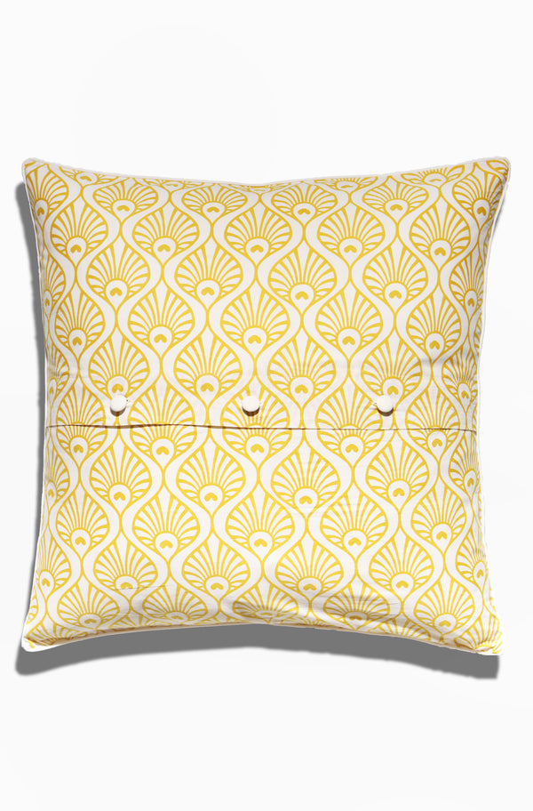 Cushion Cover - Pavo Citrus Yellow - GAYA ALEGRIA