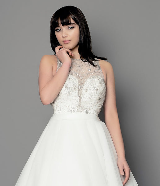 Halterneck wedding dress