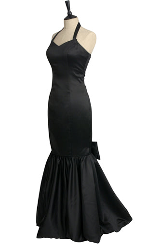 Black fishtail dress