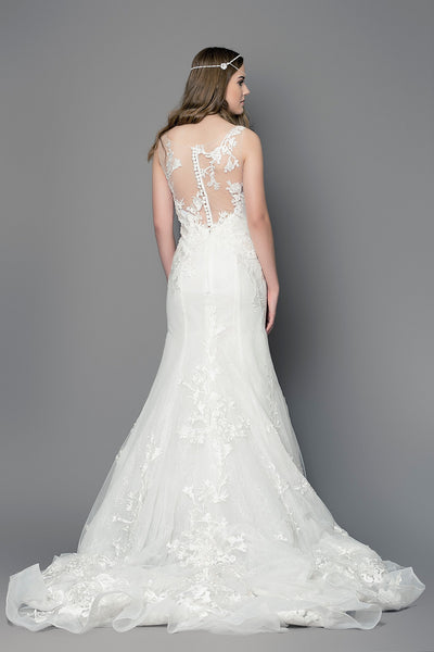 High neck wedding dress UK