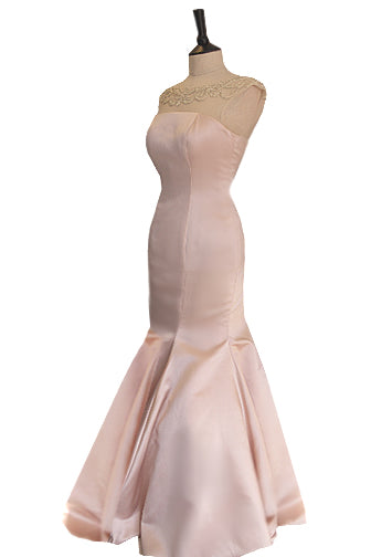 Pink fishtail prom dress