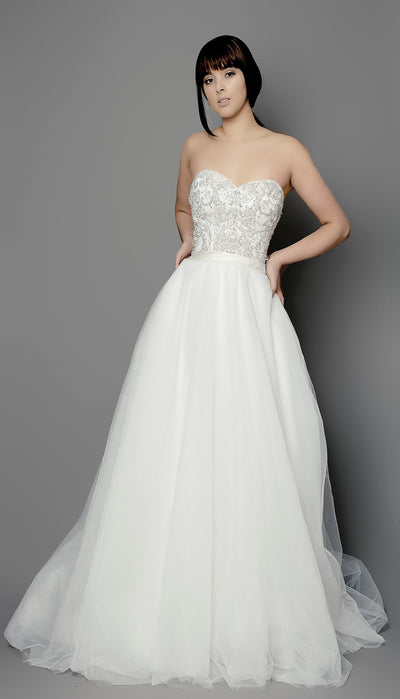 Princess Wedding Dress. Beaded Dress