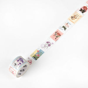 Mr Paper 8 Designs Retro Post Office Plant Bullet Journaling Stamp Tapes Scrapbooking Deco Sticker Masking Tapes Easy to Tear