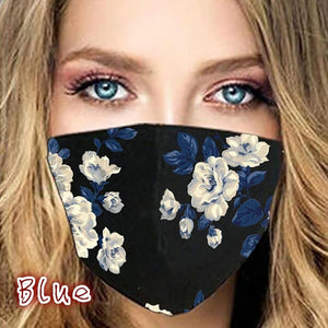 Flower Pattern Mask Washable
