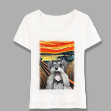 Load image into Gallery viewer, Miniature Black Schnauzer Head Print T-Shirt