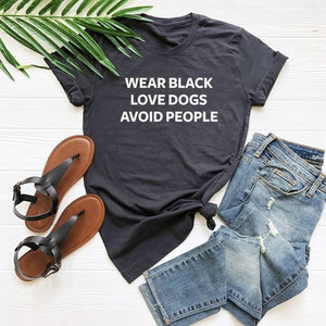 Wear black love dogs