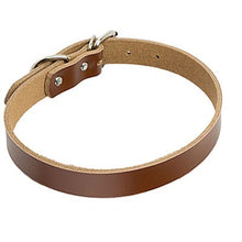 Load image into Gallery viewer, Genuine Leather Puppy Dog Collar