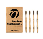 Bamboo Medium Toothbrush Natural Set of 4 pcs