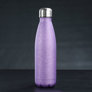 Personalized Glitter Stainless Steel Water Bottle