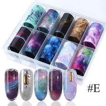 Load image into Gallery viewer, Nail Art Transfer Foils (Set of 10)