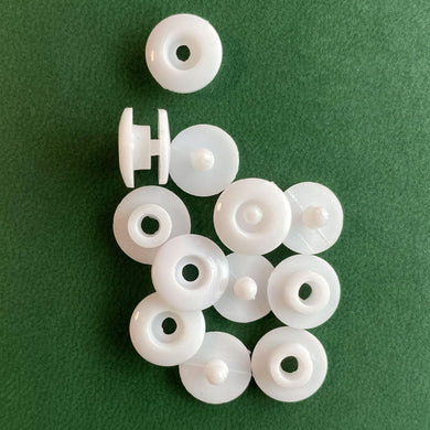 【BIG SALE】DIY White Round Plastic Snap Fasteners Press Studs 100 PCS