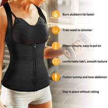 Load image into Gallery viewer, Women Waist Trainer Vest With Zipper