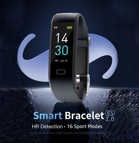 The New S5 2.0 Health Smart Bracelet For Measuring Body Temperature, Blood oxygen, Blood pressure and Heart rate