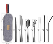 Load image into Gallery viewer, Travel Utensils Set - Shell&Turtle