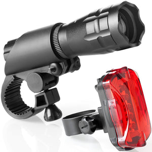 Multifunctional Highlight Bicycle Front Light Warning Light Set