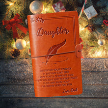Load image into Gallery viewer, Dad To Daughter Leather Journal