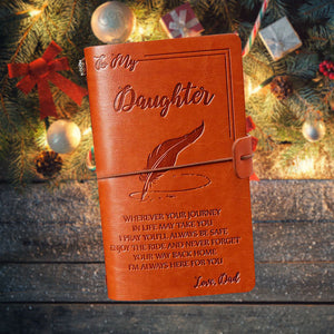 Dad To Daughter Leather Journal