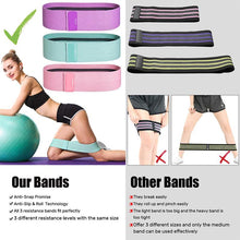 Load image into Gallery viewer, Fabric Resistance Bands for Legs and Butt-3 Pack