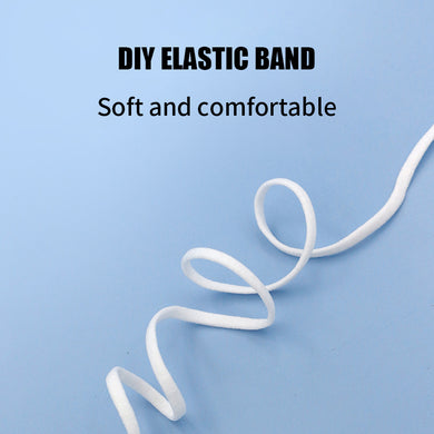 1/5 Inch(5mm)Flat Braided Elastic Cord/White Elastic Band (50 yards)