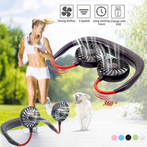 PORTABLE USB RECHARGEABLE NECKBAND FAN