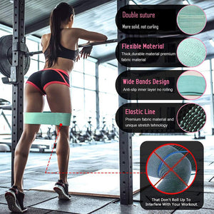 Fabric Resistance Bands for Legs and Butt-3 Pack