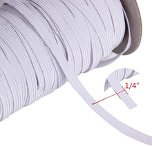 Load image into Gallery viewer, White Braided Elastic Cord/Elastic Band-50 Yard