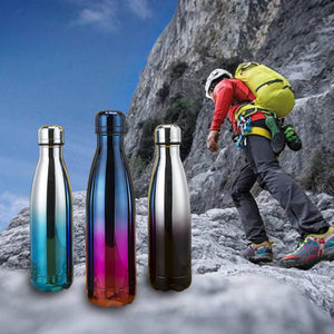 Leak-Proof Double Walled Cola Shape Water Bottle Keep Hot&Cold