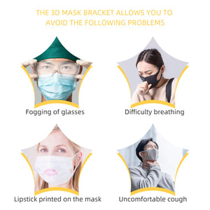 3D Mask Inner Bracket With Hook Loop Strips Reusable and Washable